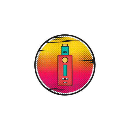 vaporizer electric cigarette vapor vape mod vector Illustration