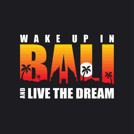 bali beach indonesia holiday vacation theme art sign symbol vector