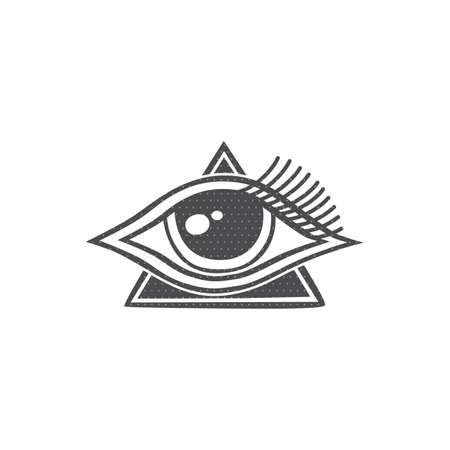 one eye of freemasonry vector