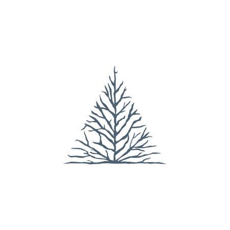 bald tree sign symbol vector