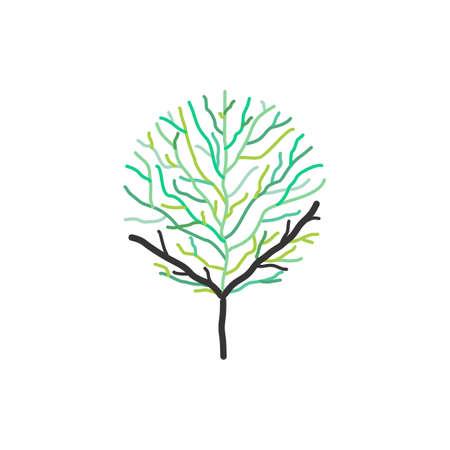 bald tree symbol vector