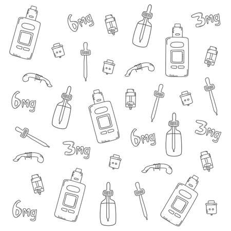 electric cigarette wallpaper theme vector