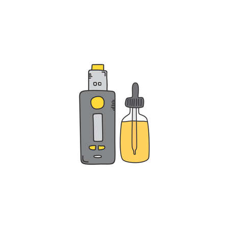 electric cigarette or vape vector