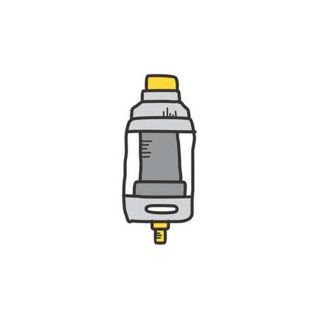 electric cigarette vapor atomizer tank vector art Stock Vector - 127285508