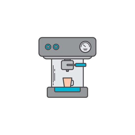 coffee machine espresso maker doodle vector art icon illustration