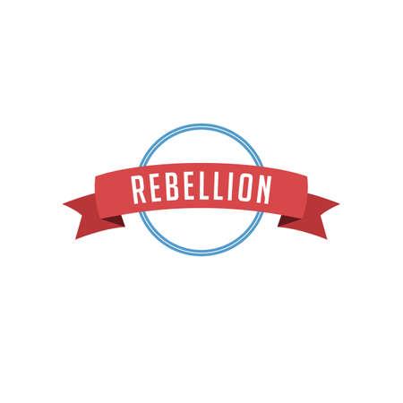 retro vintage badge label rebellion vector art