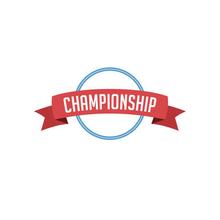 retro vintage badge label championship vector art