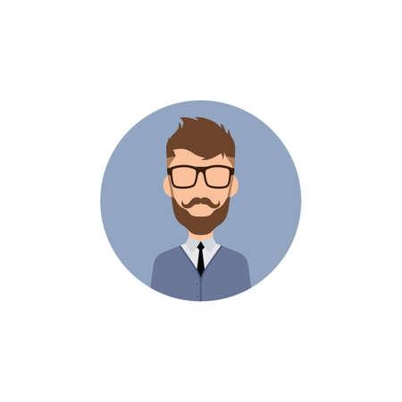 gentleman hipster worker avatar vector art illustration