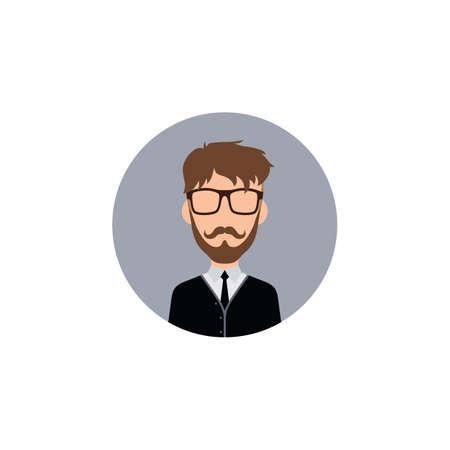 gentleman hipster worker avatar vector art illustration Çizim