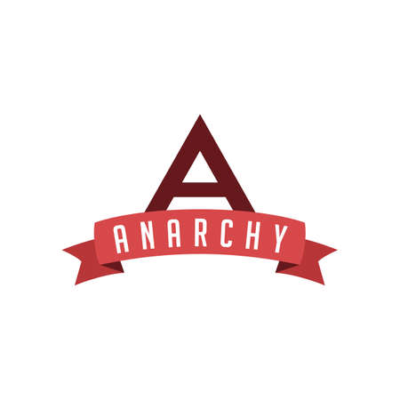 retro vintage badge label anarchism vector art