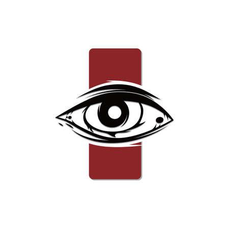 one eye cult religion sign symbol vector art