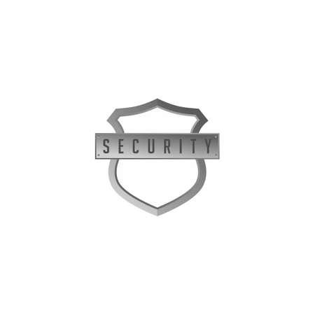 protection shield antivirus sign vector art illustration