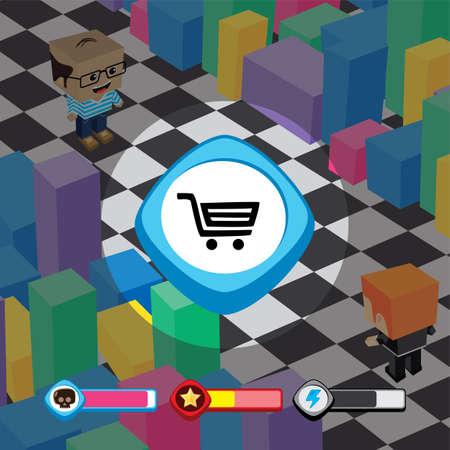 game ui menu application mobile app vector art