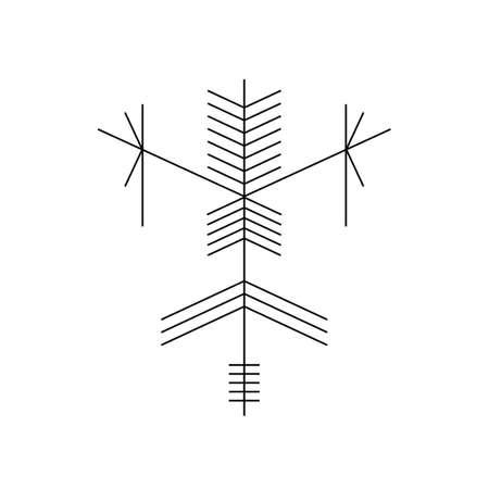 old tribe tattoo art design mentawai vector art