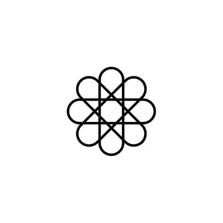 flower star sign symbol design illustration vector art Ilustração Vetorial