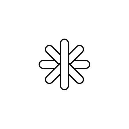 flower star sign symbol design illustration vector art Vector Illustration