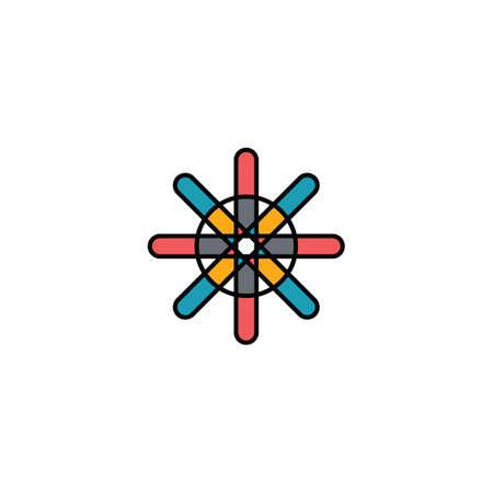flower star sign symbol design illustration vector art