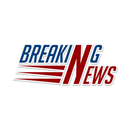 breaking news television program sign label vector Ilustração