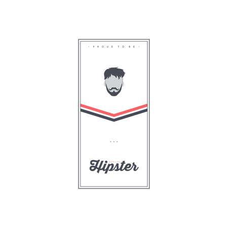 hipster retro gentleman society theme flyer brochure template vector art
