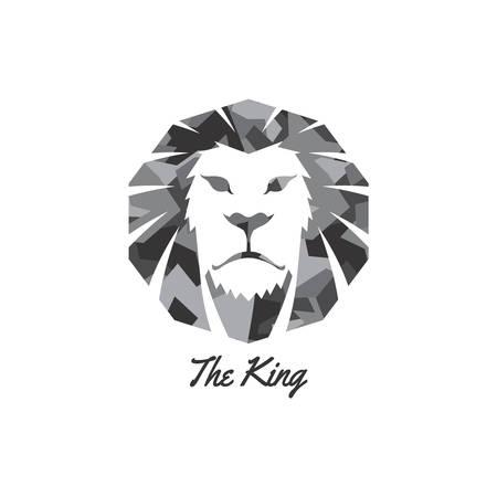 king lion endangered species logo sign vector art