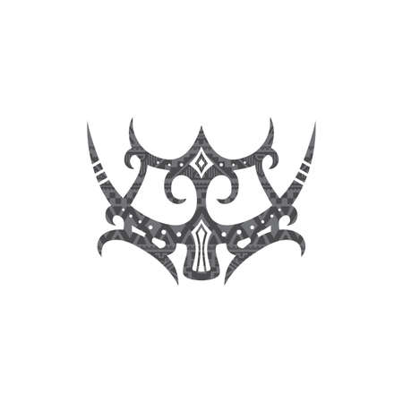 mentawai tribe cultural sign tattoo art vector illustration  イラスト・ベクター素材