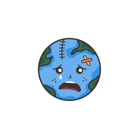 save our planet earth campaign theme vector art