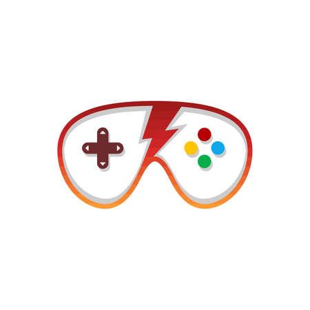 video game console controller logo icon sign vector