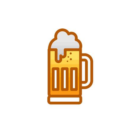 cold glass of beer october fest vector art