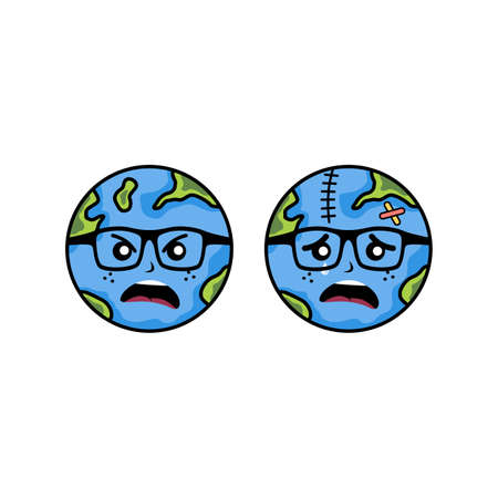 save our world planet earth campaign vector art Zdjęcie Seryjne - 130799372