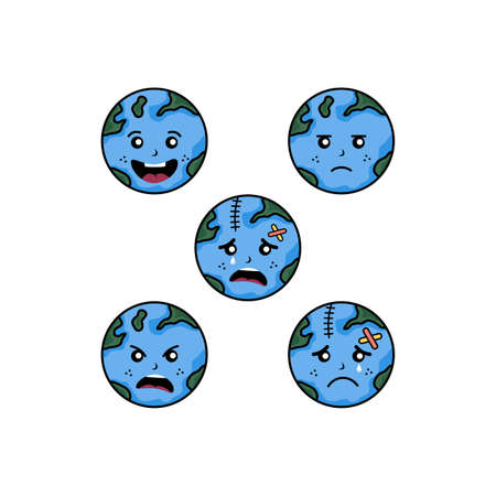 save our world planet earth campaign vector art Zdjęcie Seryjne - 130799376