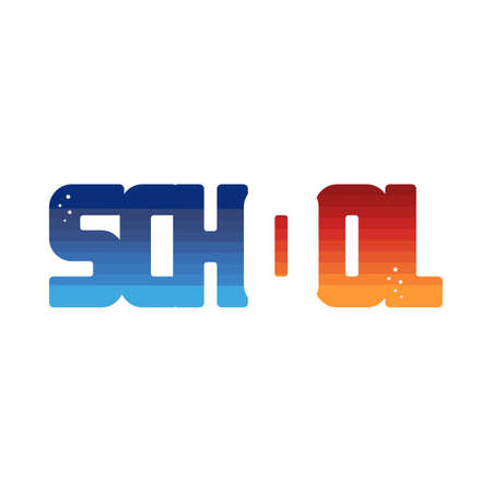 school color colorful logo logotype word letter vector Çizim