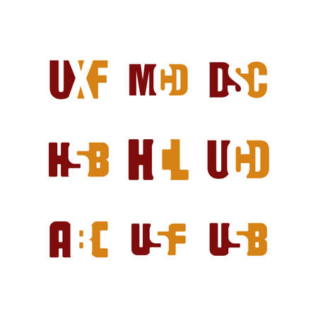 modern initial alphabet letter logo logotype vector art set
