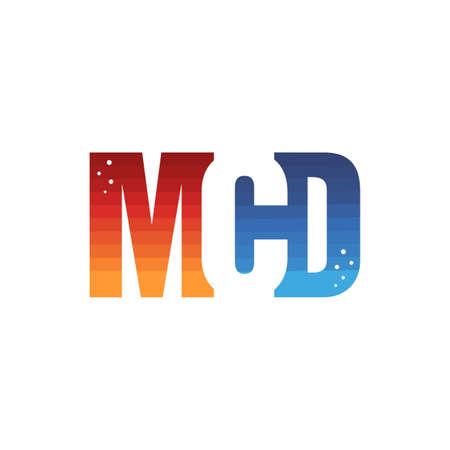 modern initial alphabet letter logo logotype vector art Çizim