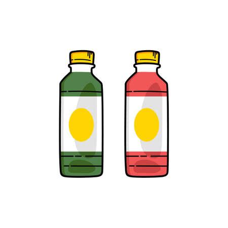 refreshment drink soda juice plastic bottle vector art