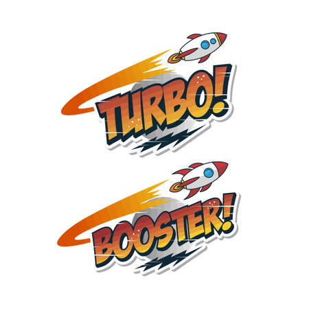 turbo booster rocket ship launch space exploration vector art