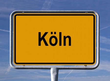 General city entry sign of Köln (Cologne), Germany