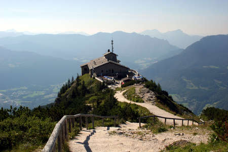 Kehlstein and Eagles nest in the bavarian Alps near Berchtesgaden in Germany  photo
