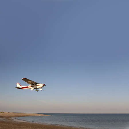helgoland: Starting airplane at the german north sea island Helgoland D�ne