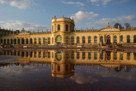 The beautiful Orangerie castle in Kassel, Germany