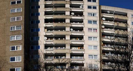 marzahn: Big apartment houses, seen in Kassel Brückenhof, Germany