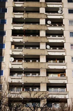 marzahn: Big apartment houses, seen in Kassel Br�ckenhof, Germany