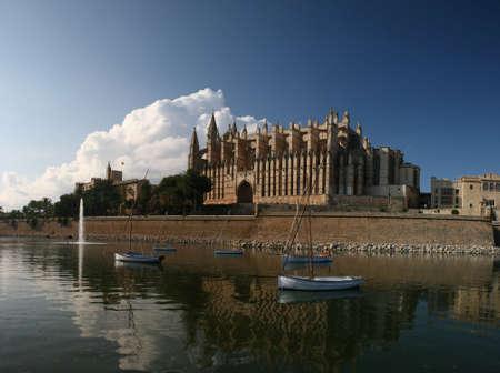Cathedral La Seu in Palma de Mallorca, Spain.