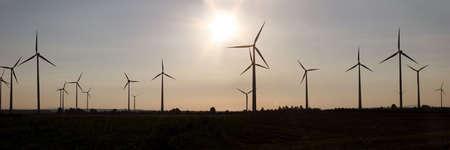 Windmills between Quedlinburg and Harz mountains in Sachsen-Anhalt, Germany photo
