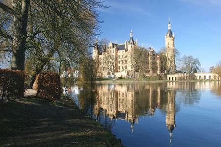 The Schwerin castle, las Landtag (government) of Mecklenburg-Vorpommern Stock Photo