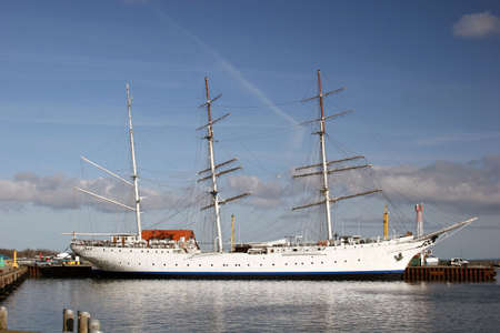 fock: Sailing ship Gorch Fock at the baltic sea harbor of Stralsund, Germany