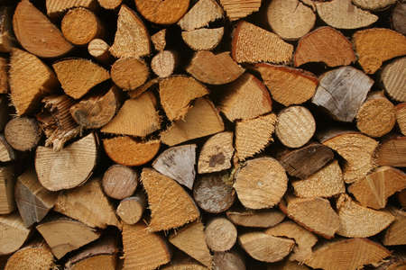 bloc: Fire wood, typical for Bavaria, Germany