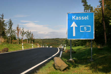 Highway sign to Kassel, Germany