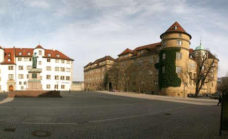 Altes Schloss (Old castle) of the german city Stuttgart Stock Photo