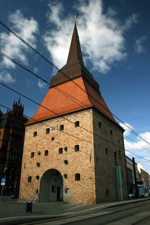 rostock: Historic gate Steintor in Rostock, Germany