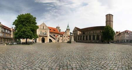 Panorama of castle Dankwarderode and landmark